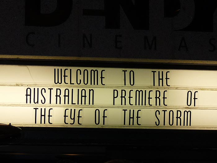 'The Eye of The Storm' Sydney premiere