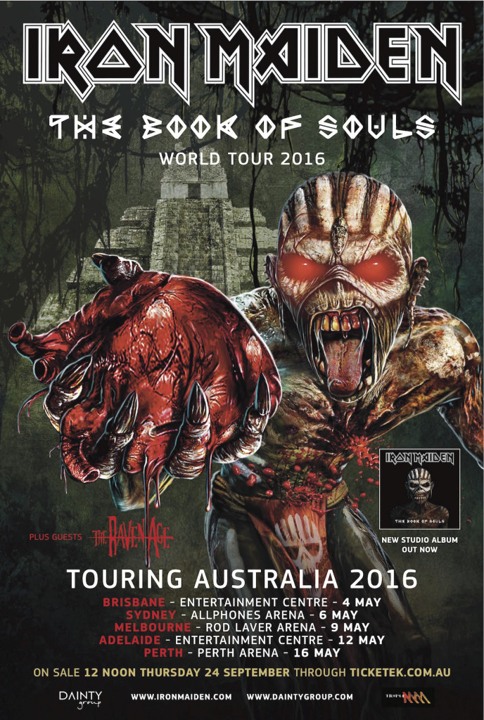 book of souls tour poster