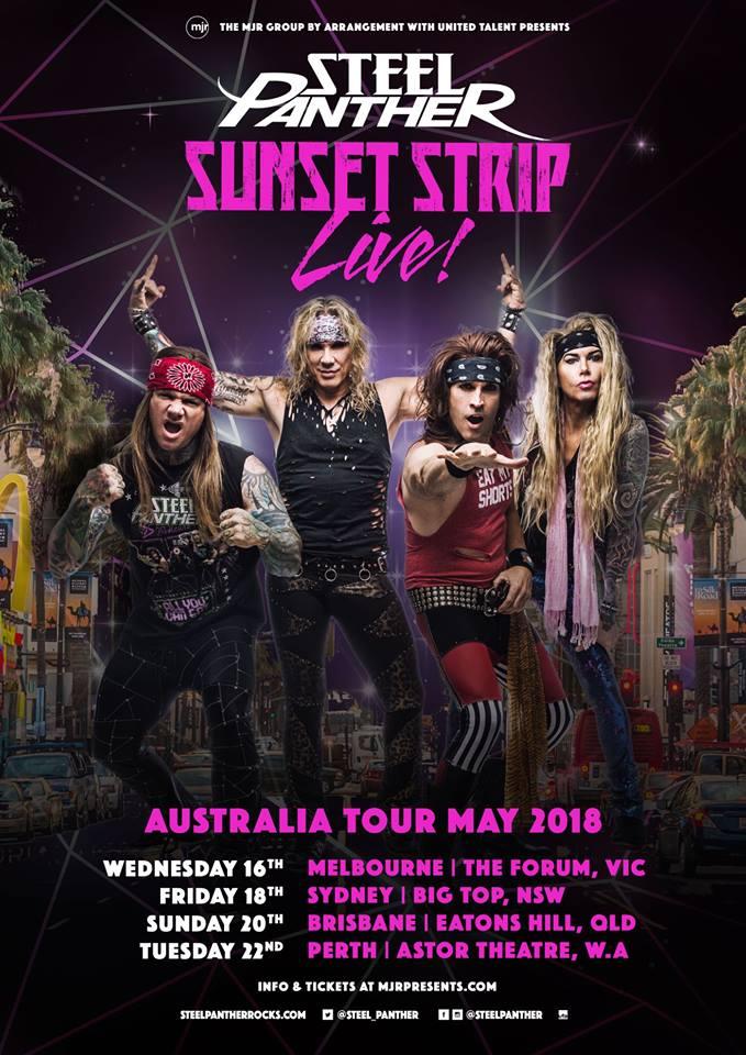 Steel Panther Australian Tour